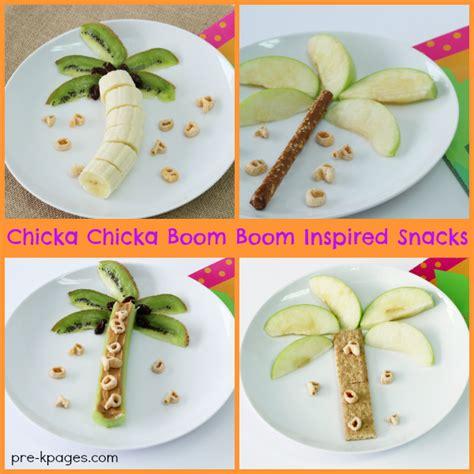 cooking crafts for chicka chicka boom boom inspired snacks