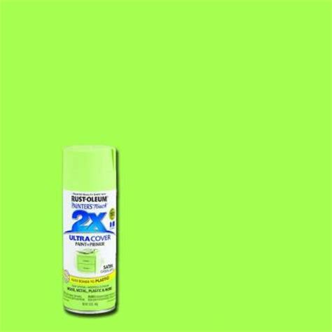 neon paint colors home depot rust oleum painter s touch 2x 12 oz satin green apple