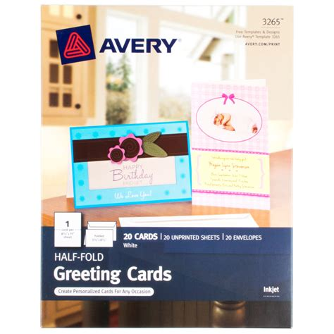 how 2 make greeting cards avery 3265 5 1 2 quot x 8 1 2 quot printable half fold greeting