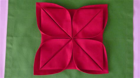 how to fold origami lotus image gallery napkin folding