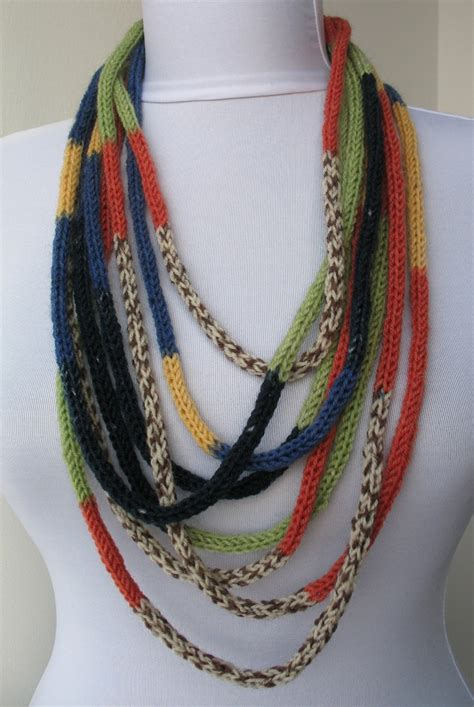 knitted necklace knit scarf necklace knitting