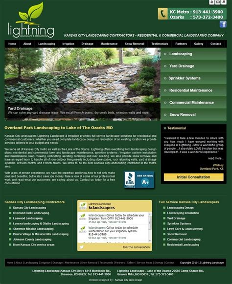lightning landscape kansas city landscapers