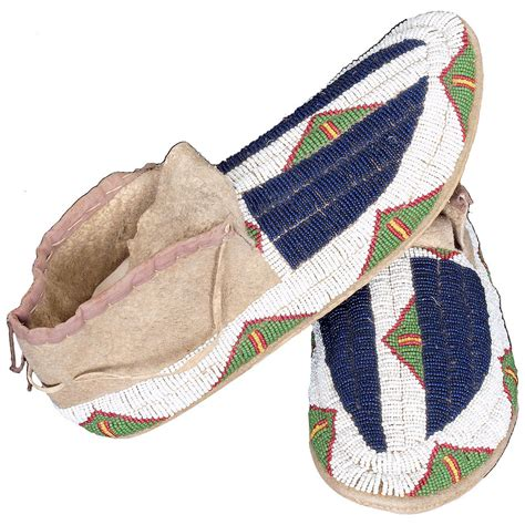 beaded moccasins and antique american beaded moccasins sioux circa