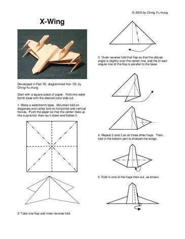 how to make an easy origami x wing origami x wing pdf dragif