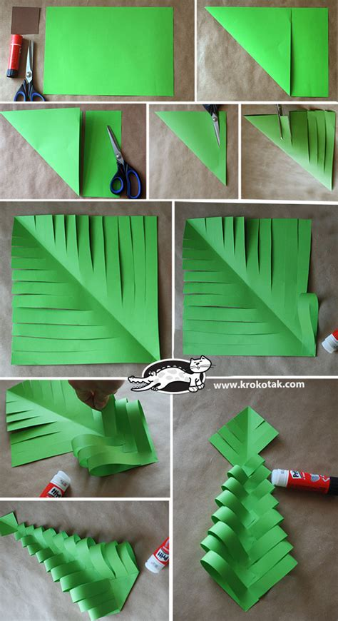 tree decorations diy krokotak diy paper trees