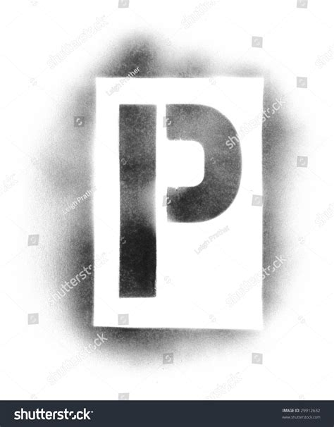 spray painting letters stencil letters in spray paint stock photo 29912632