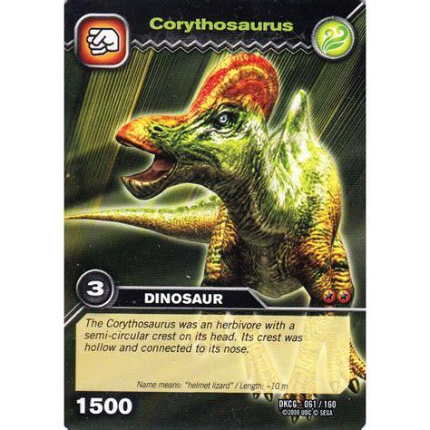 how to make dinosaur king cards deck dinosaur king card dkcg 061 corythosaurus common