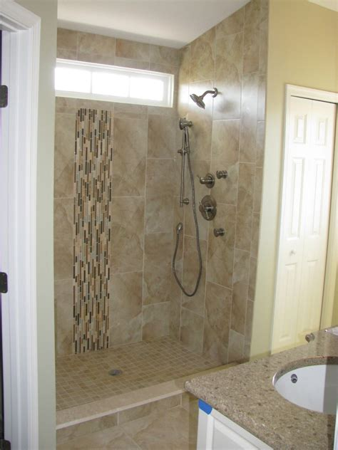 bathroom tile shower designs simple shower decor with glass mosaic wall panel accent