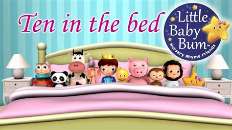 in a bed ten in the bed nursery rhymes from littlebabybum