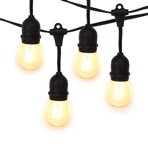 string light sockets bistro string light suspended black 24 sockets 54ft