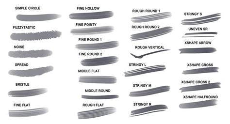 paint tool sai shapes 16 best images about brush settings on posts