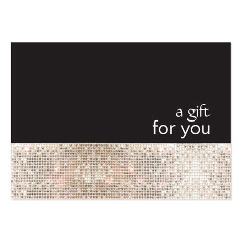 how to make gift cards for business faux silver sequins black salon gift certificate business
