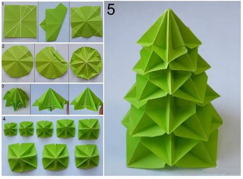 steps to make paper crafts how to make paper craft origami tree step by step diy