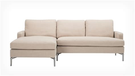 fabric sectional sofas with chaise eq3 classic 2 sectional sofa with chaise fabric