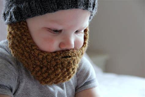 knitted baby beard bearded beanie archives charmingly modern