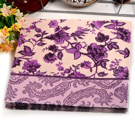 decoupage placemats 40pcs food grated paper napkin flower design vintage