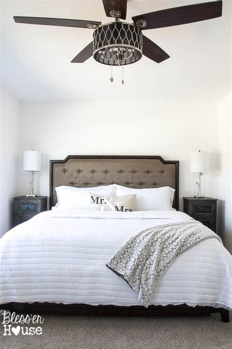 ceiling fan for bedroom rustic modern master bedroom reveal and sources bless er