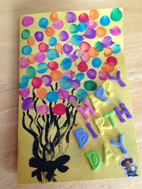 birthday card ideas for children to make toddler fingerprints birthday card pins i ve done