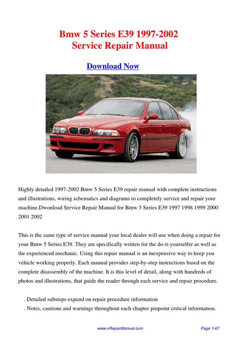 chilton car manuals free download 2002 bmw 5 series security system service manual bmw e39 1997 2002 service repair manual download bmw e39 sport wagon 1997