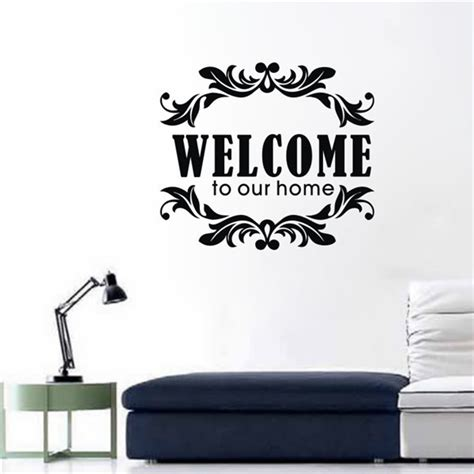 Funlife Wall Stickers aliexpress com buy welcome to our home wall vinilo