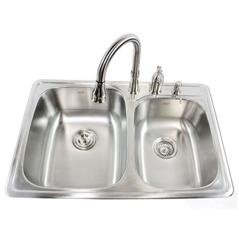 60 40 kitchen sink 33 inch stainless steel top mount drop in 60 40
