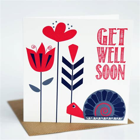 make your own get well soon card get well soon greeting card by allihopa