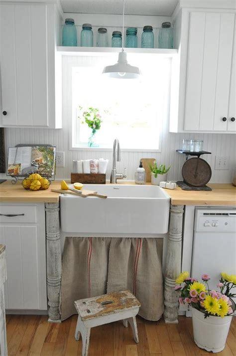 farmhouse style kitchen sinks skirted kitchen sink design ideas