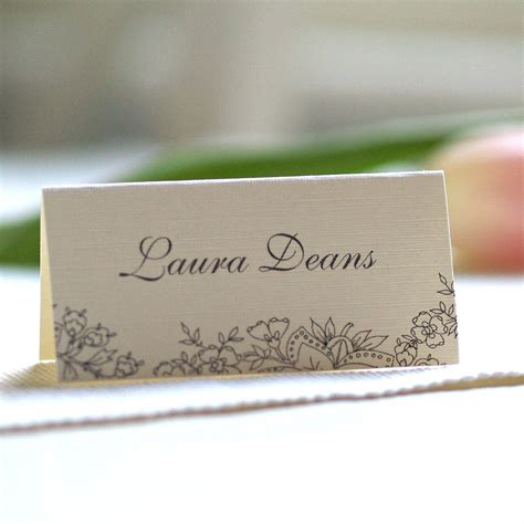 how to make table name cards personalised lace design name cards by beautiful day