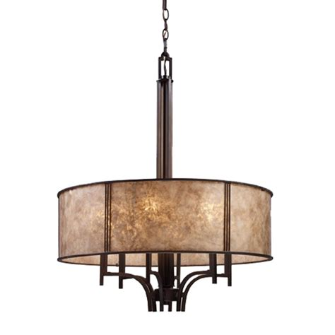 chandelier shades drum six light chandelier with mica drum shade 15034 6