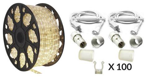 dimmable led rope lighting 120v 120v dimmable led warm white rope light 150 kit modern