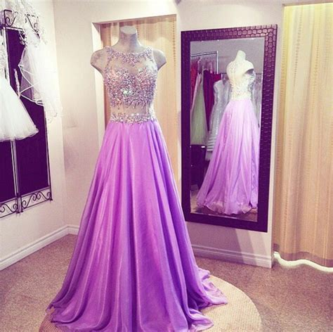 beaded two prom dress lilac prom dresses beaded prom dress prom dress 2