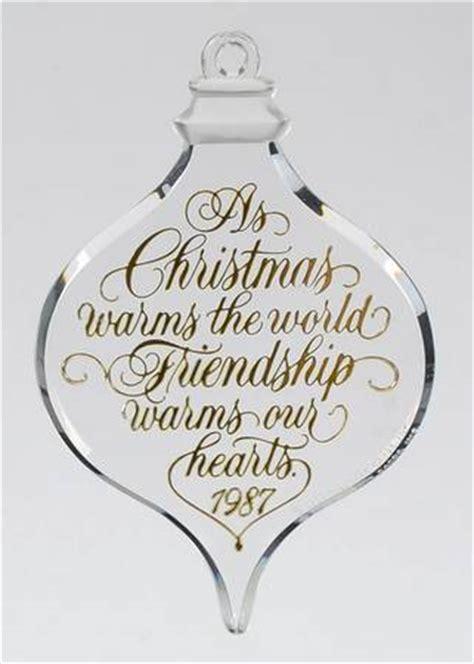 friendship ornaments hallmark 1987 hallmark ornaments at replacements