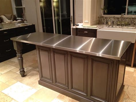 kitchen islands with stainless steel tops stainless steel countertops custom metal home