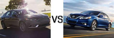 Nissan Altima Vs Ford Fusion by 2017 Ford Fusion Vs Nissan Altima
