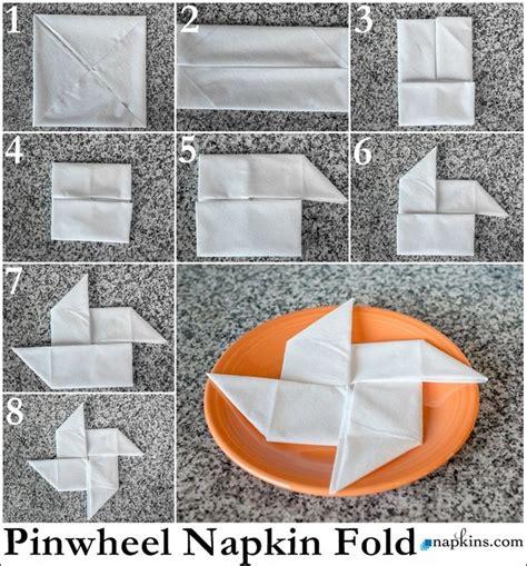 origami napkin folding pinwheel napkin fold how to fold a napkin