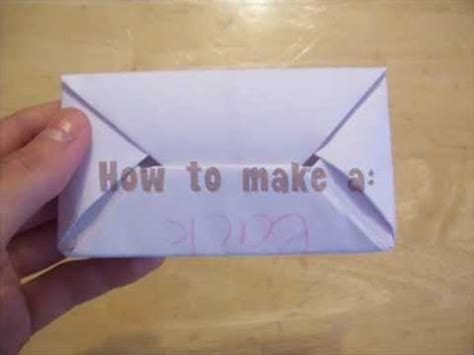 how to make an origami letter howtomake a secret letter and easy oragami