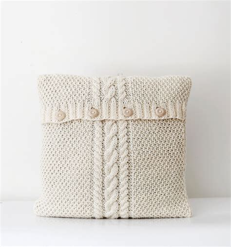 knitted pillows cable knitted new pillow cover white milk decorative