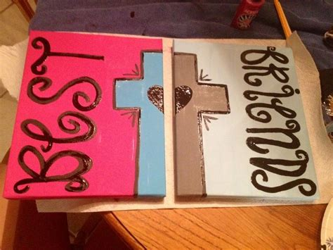 bff crafts for 1000 ideas about best friend canvas on best
