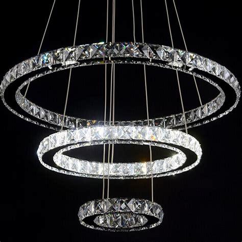 led chandelier lights ring led k9 chandelier