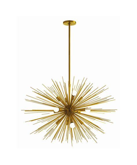 gold sunburst chandelier kurtz collection
