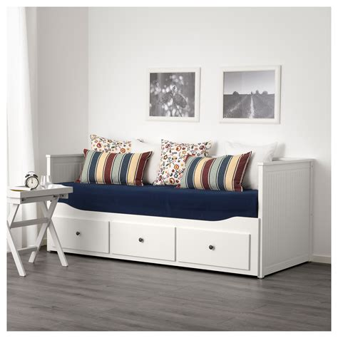 sofa day bed hemnes day bed frame with 3 drawers white 80x200 cm ikea