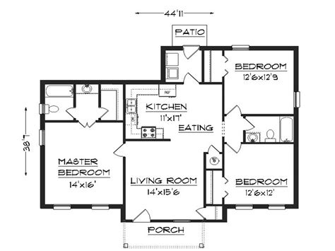 house build plans 3 bedroom house plans simple house plans small easy to