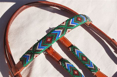 beaded headstalls product details quot turquoise summer quot beaded headstall