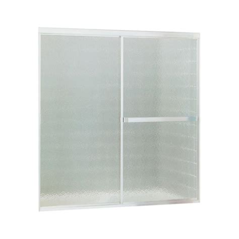 bathtub shower doors home depot sterling standard 52 in x 56 7 16 in framed sliding tub