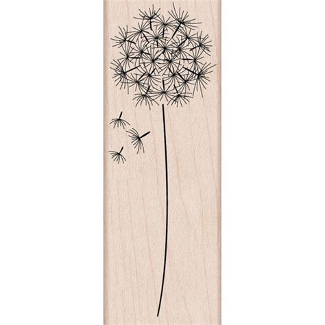 rubber sts arts and crafts items similar to dandelion flower rubber st woodblock
