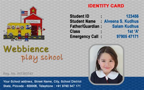 how to make school id card id cards student id card free template