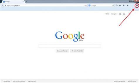 Firefox Mouse come impostare google come pagina iniziale su browser internet