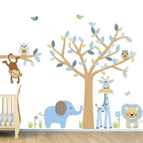 wall stickers baby room repositionable baby boy room jungle wall decals boy room
