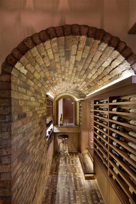 Houzz Basement Ideas by Family Room Home Theater And Bar Contemporary Wine Cellar