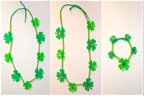 easy jewelry crafts for easy shamrock jewelry crafts for pbs parents